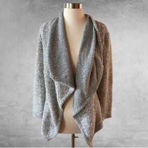 BLANC NOIR Open Front Boucle Cardigan Small